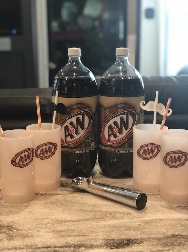 National Root Beer Float Day: A summer classic that brings up sweet childhood memories. Brownie Sundae Root Beer Float is the perfect family night treat. #Sponsored #AWRootBeer #NationalRootBeerFloatDay #JustPlumCrazy #DineDreamDiscover #ExploreEnjoyExperience