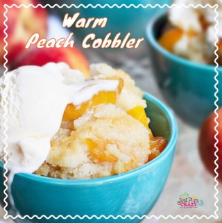 "Happy National Peach Month! Nothing says ""summer"" like a warm peach cobbler recipe made with the freshest, juiciest peaches you can find."