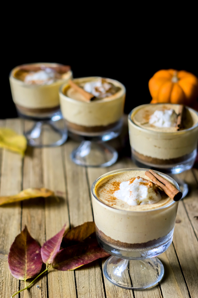 The No Bake Pumpkin Pie Cheesecake Mousse is perfect with the smooth taste of Mousse and Pumpkin Pie all rolled into one no bake pumpkin cheesecake.