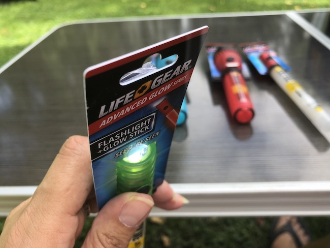 The Life Gear Safety Flashlights come in a variety of colors and shapes. Each one has 5 different modes and will keep kids safe while trick or treating.
