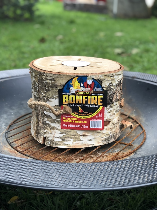Keep Warm By The Light N Go Bonfire Log Just Plum Crazy