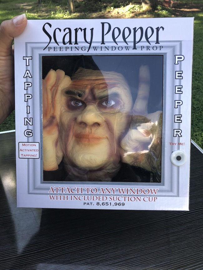 I received the Original Scary Peeper and the Window Tapper which is my favorite. The life like eyes are sure to scare your guests and give them nightmares.