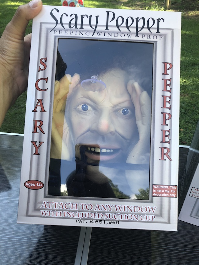 The Scary Peeper Halloween Prank and Window Tapper scary prank have life like eyes are sure to scare your guests and give them nightmares.