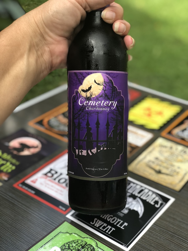These 5 x 4 Spooky Halloween Wine Bottle Labels are a cheap and easy way to add some decorations for your holiday parties.