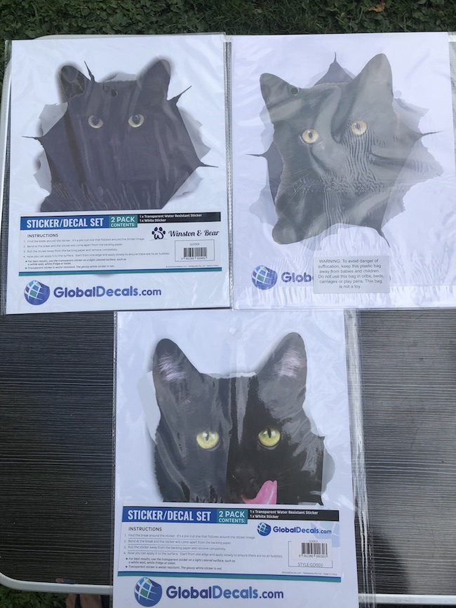 Black Cats are associated with Halloween and theWinston and Bear 3D Cat Decals Stickers are fun to decorate with whether it's Halloween or not.