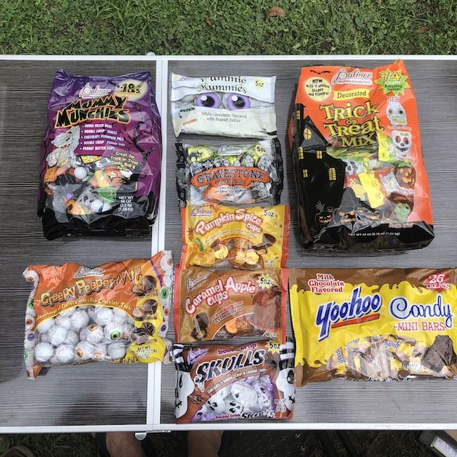 Palmer candy types for Halloween