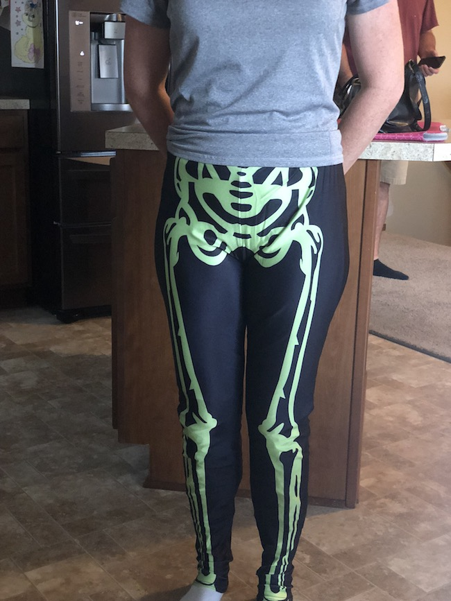Neon Skeleton Leggings from Kapow
