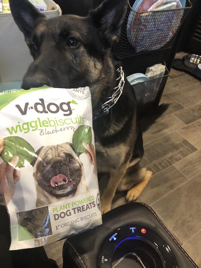 Harley wants her V Dog Treats!