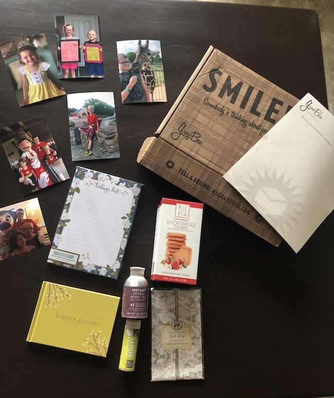 The GrandBox Grandparents Gift monthly subscription box made for grandparents and is unique and personalized for the person you are sending it to.