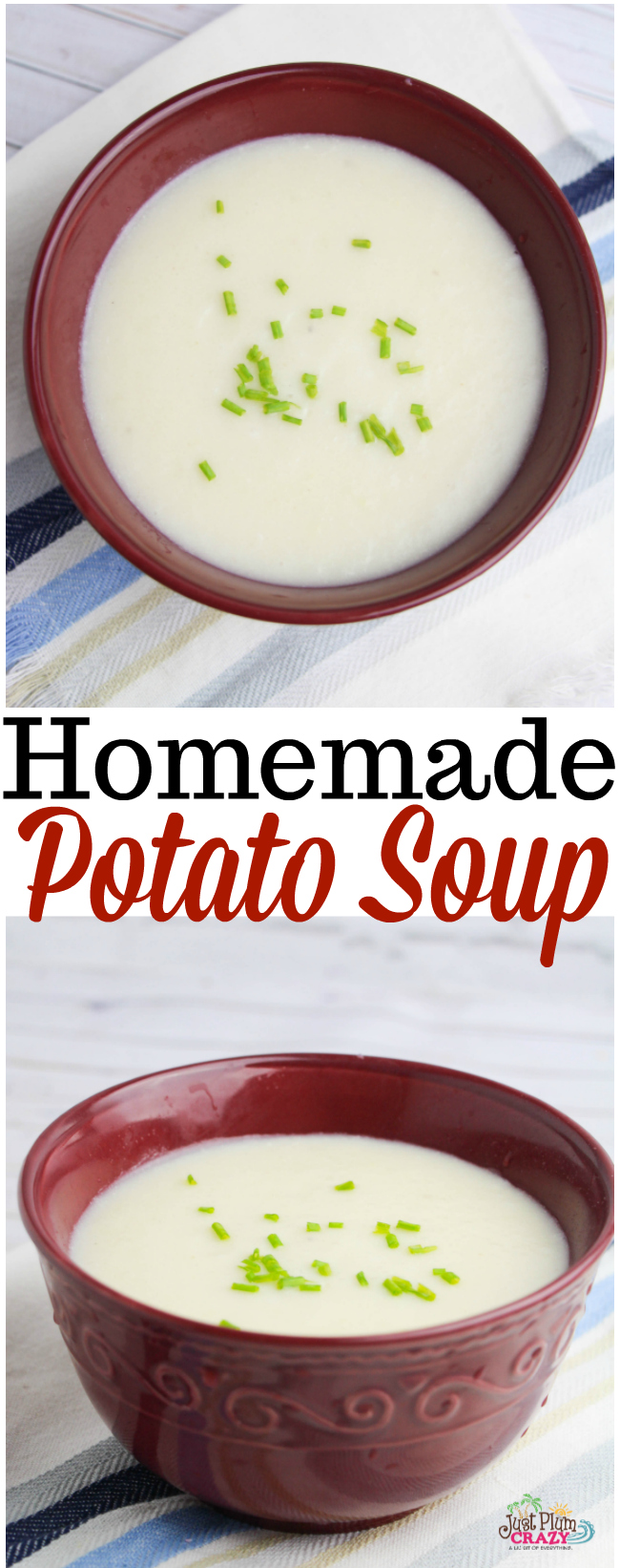 With the taste of bacon, onion and potatoes, the Yummy Homemade Potato Soup Recipe is perfect for the cold weather or Christmas Eve Wigilia dinner.