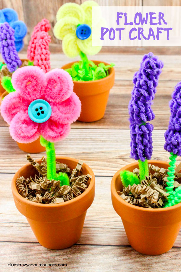 Beautiful flower pot craft that make a perfect Mother's Day gift.