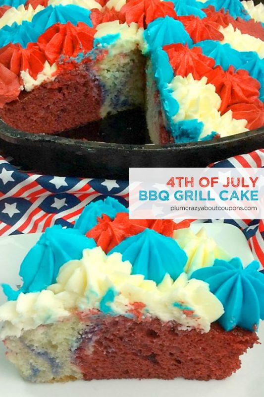 Patriotic Cake Made On The Grill
