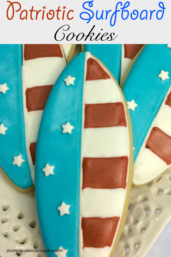 Surfboard sugar cookies recipe are a perfect summer sweet treat.