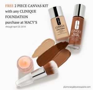Clinique Foundation Promotion April 2019