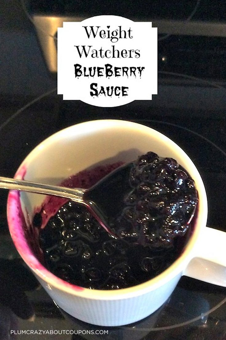 Weight Watchers friendly blueberry sauce you can use for pancakes, waffles or even as an ice cream topping.