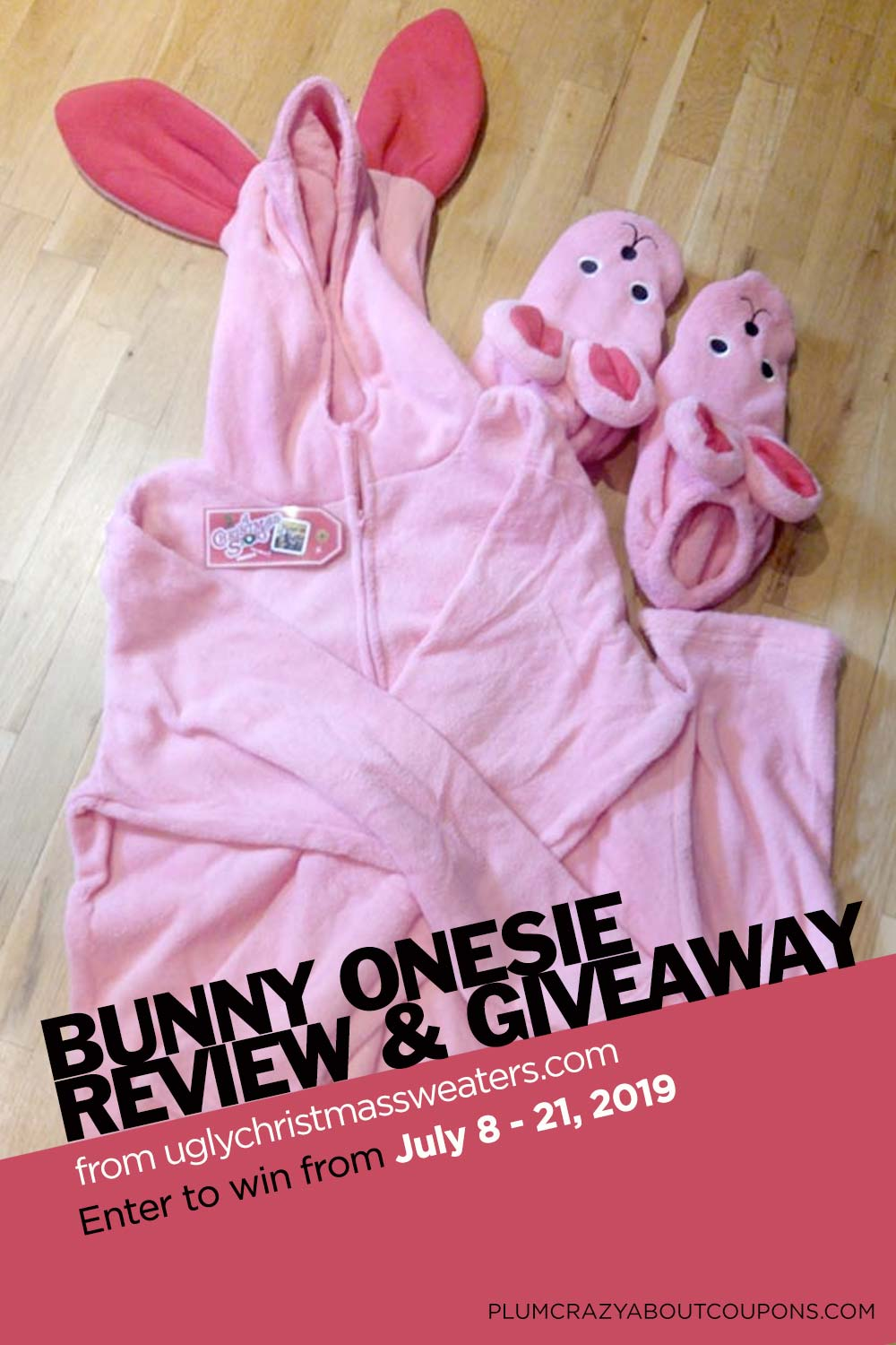 Enter to win this adorable Christmas Story Bunny onesie from uglychristmassweaters.com.