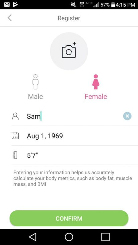 VeSync Fit App Add User Screen
