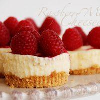 Raspberry Marble Cheesecakes