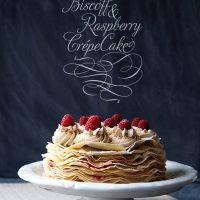 Biscoff & Raspberry Crepe Cake /// Recipe